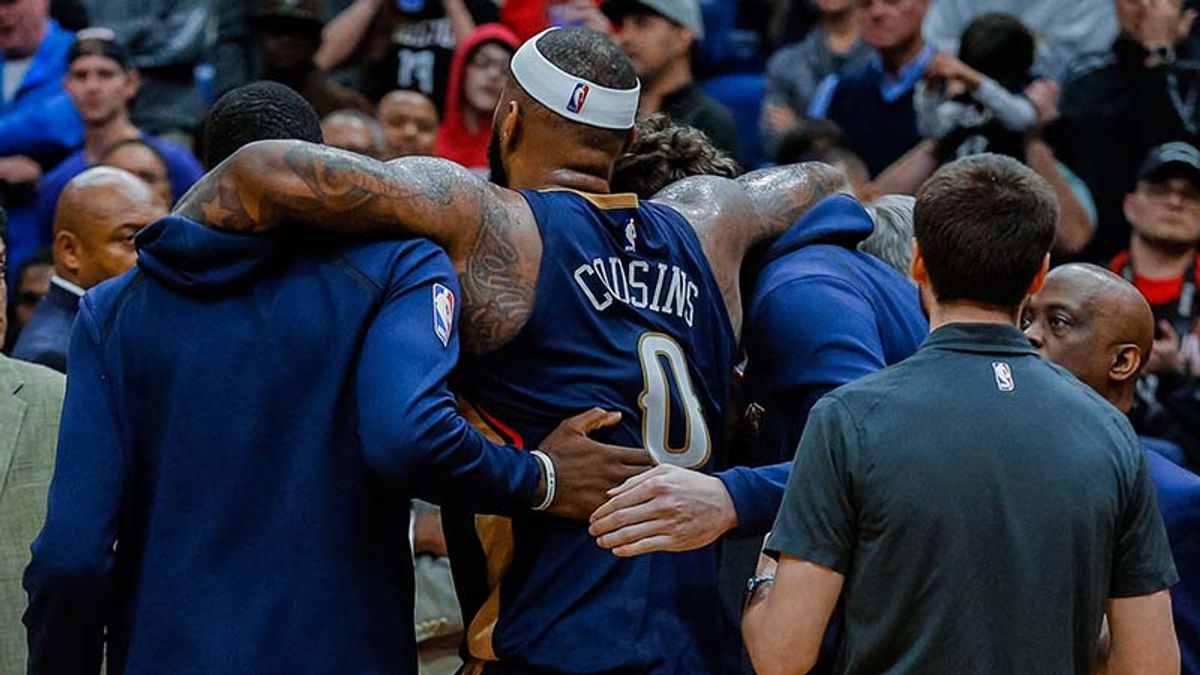DeMarcus Cousins' Injury Devastating for Pelicans on Every Level article feature image