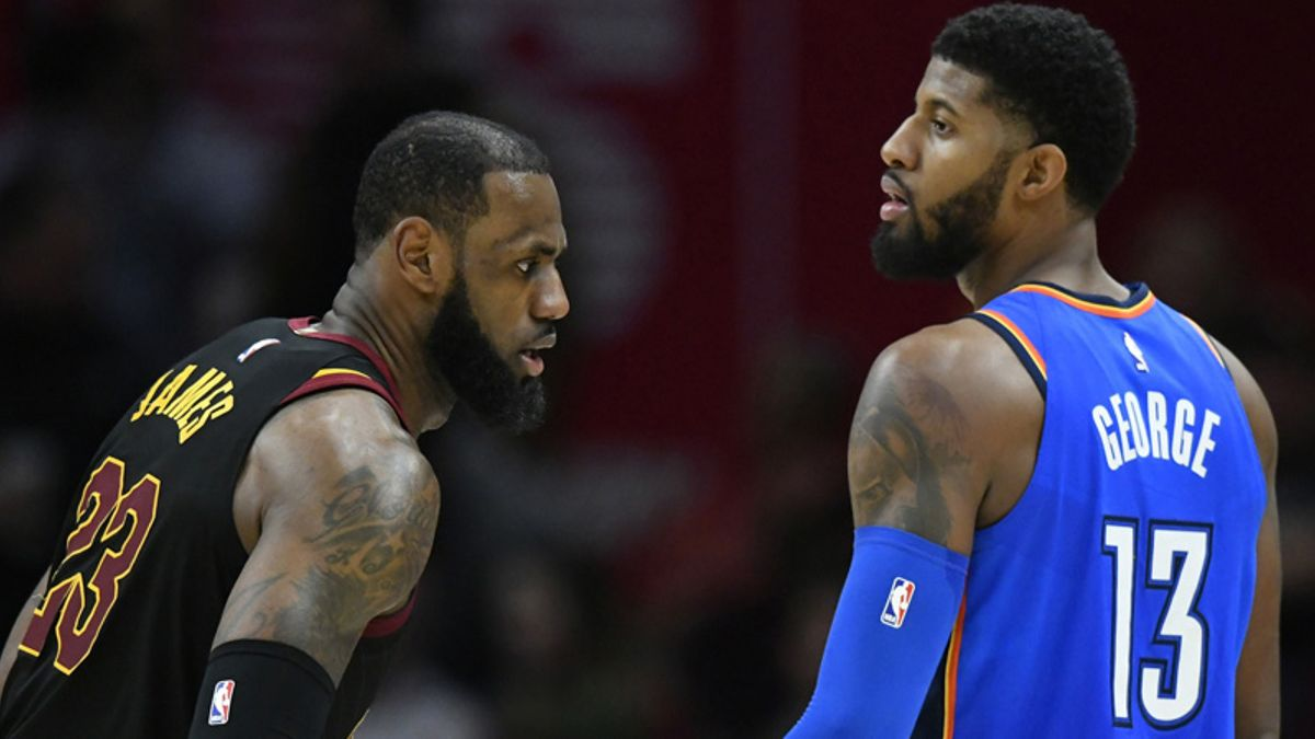 Oddsmakers Expect LeBron James and Paul George to Join Lakers article feature image