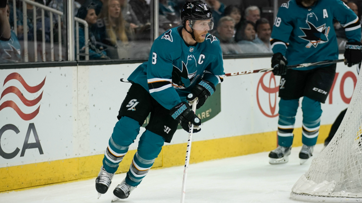 Top NHL Prop Bets for Monday: Pavelski Over/Under 2.5 Total Shots on Goal? article feature image