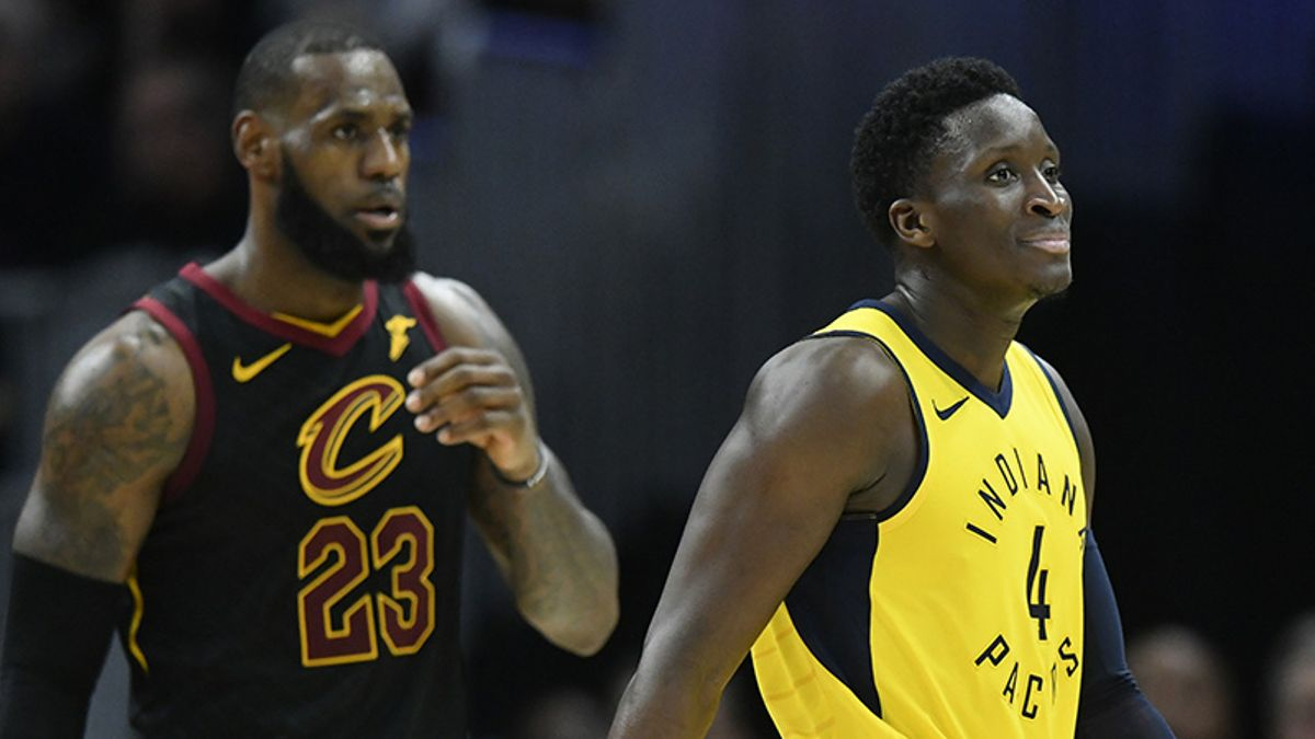 Cavs-Pacers: Victor Oladipo Is Going at LeBron James, And It's Working article feature image