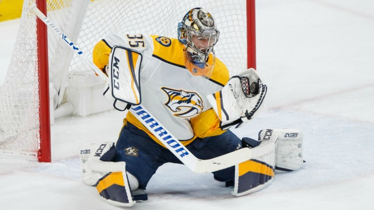 Top NHL Props for Tuesday: Rinne Over/Under 27.5 Total Saves? article feature image