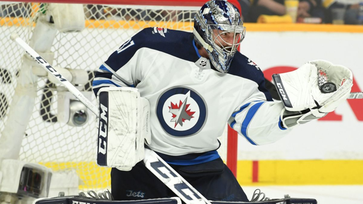 Top NHL Props for Saturday: Hellebuyck Over/Under 29.5 Total Saves? article feature image