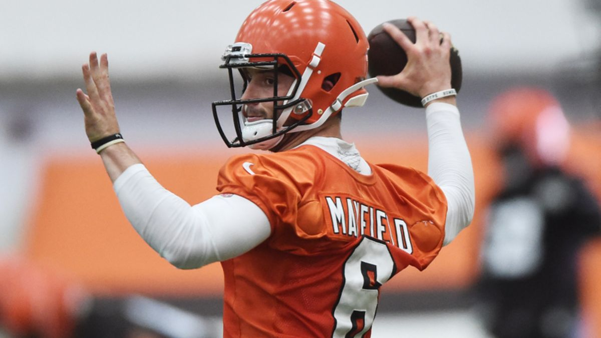 Browns vs. Giants Preseason Betting Odds: Mayfield, Barkley Take Center Stage article feature image