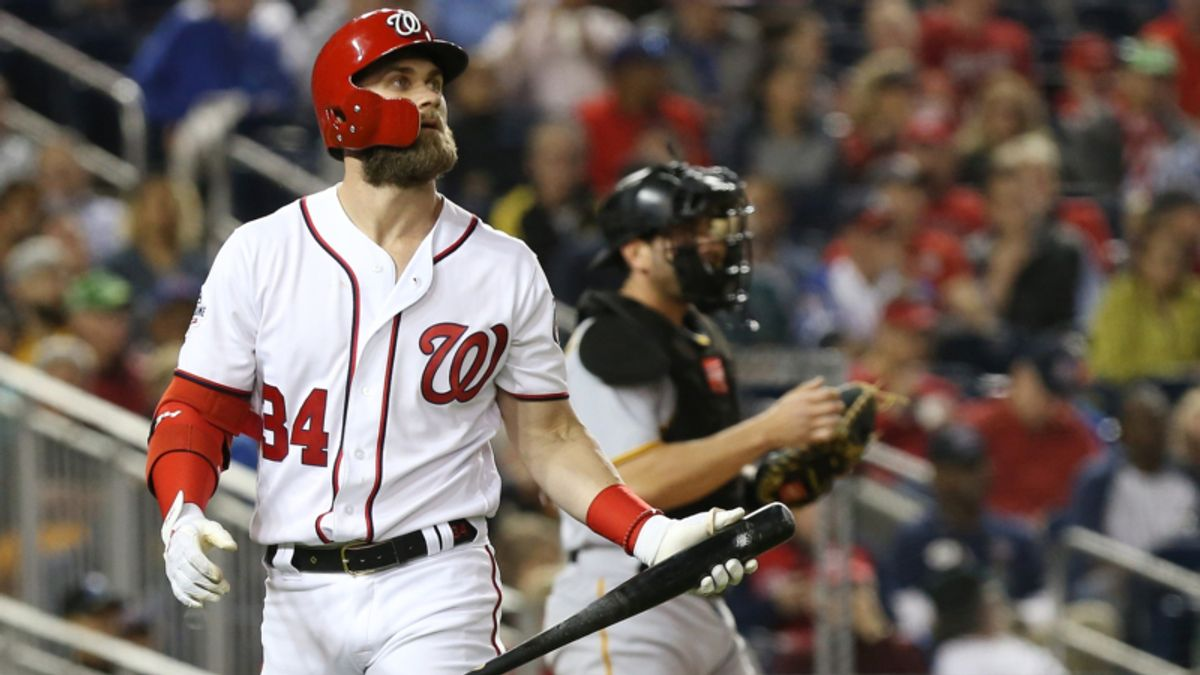 Bryce Harper's Absence Moving Nats-Padres Line and Total article feature image