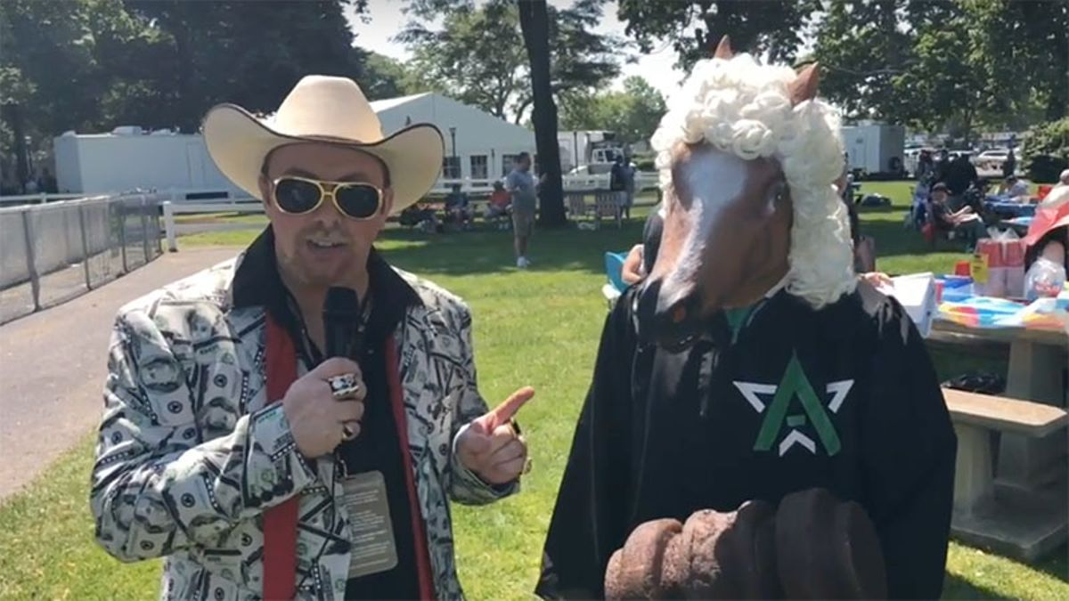 'I Want to Interview a Horse': BlackJack Takes Over the Belmont article feature image