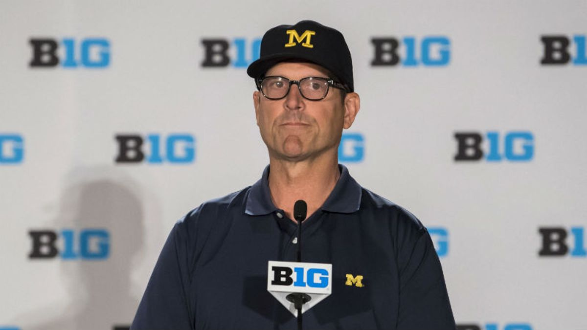 Jim Harbaugh Is Not a Fan of Sports Betting article feature image