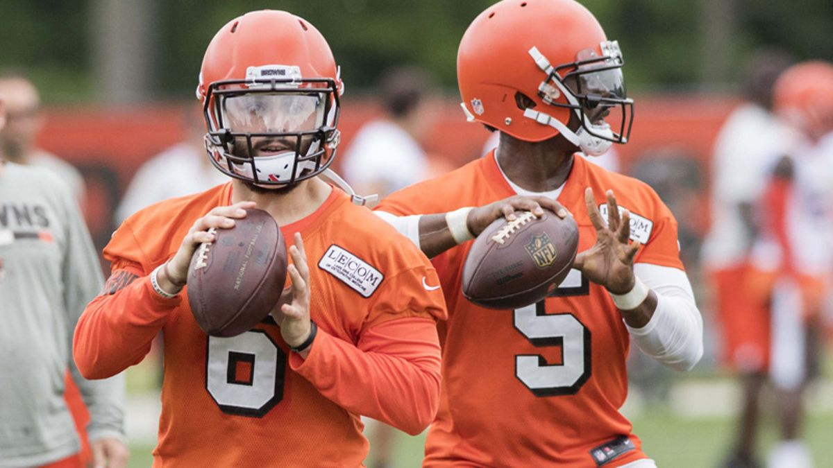 NFL QB Competition Odds: Baker Mayfield a Massive Underdog to Win Browns Job article feature image