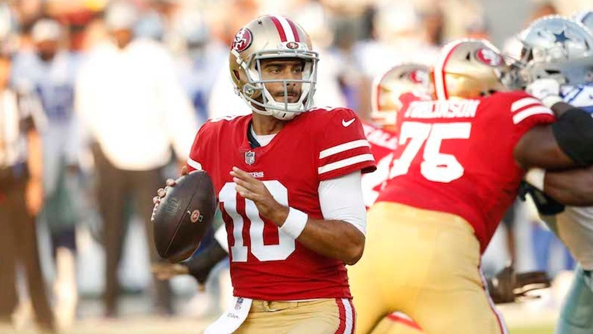 Colts vs. 49ers Preseason Betting Odds: Jimmy Garoppolo to Play First Half article feature image