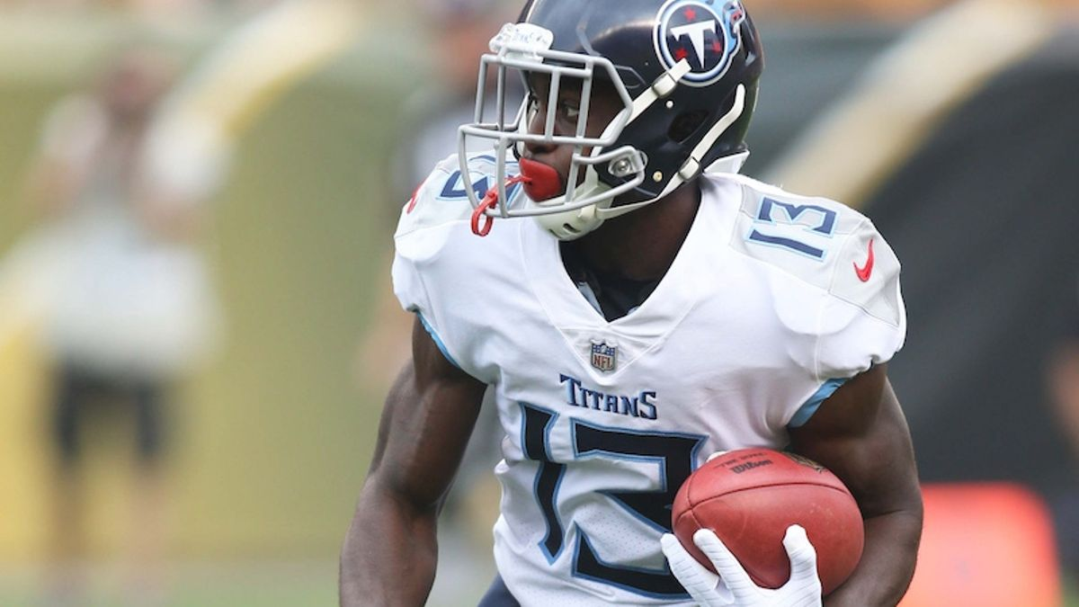 Vikings vs. Titans Preseason Betting Odds: Tennessee's WR Depth Chart Needs Clarity article feature image