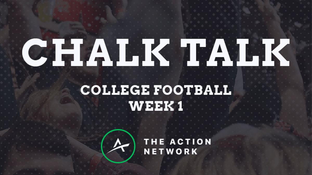 Chalk Talk: Watch Our College Football Week 1 Betting Show article feature image