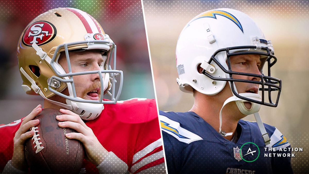 49ers-Chargers Betting Preview: What Garoppolo's Absence Means for San Fran article feature image