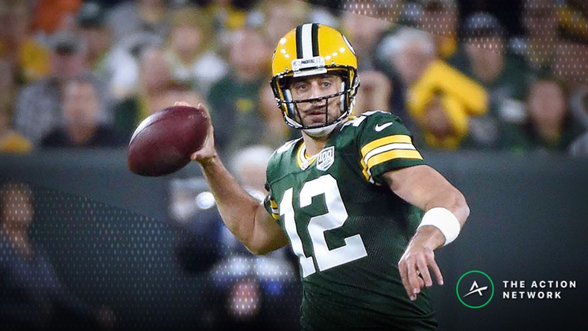 Aaron Rodgers Is a Historically Elite Fantasy Football QB When Playing Hurt article feature image