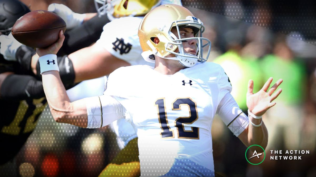 Who Is Ian Book? 5 Things Bettors Should Know About Notre Dame's Quarterback article feature image