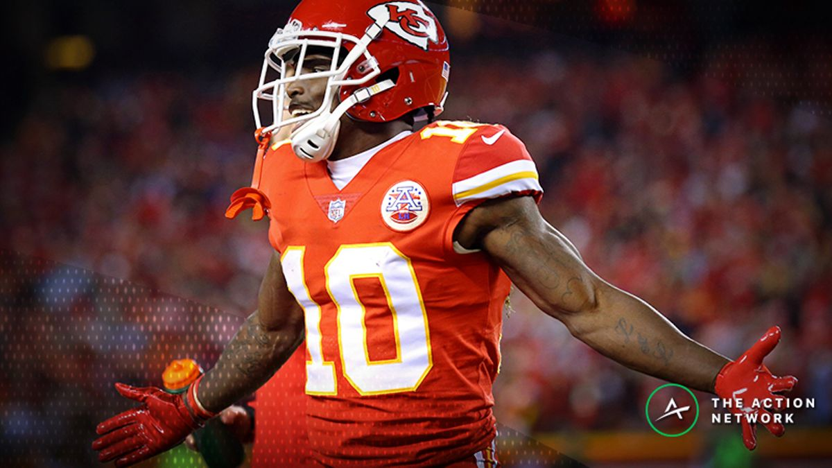 No Fantasy Player Is More Explosive in Prime Time Than Tyreek Hill article feature image