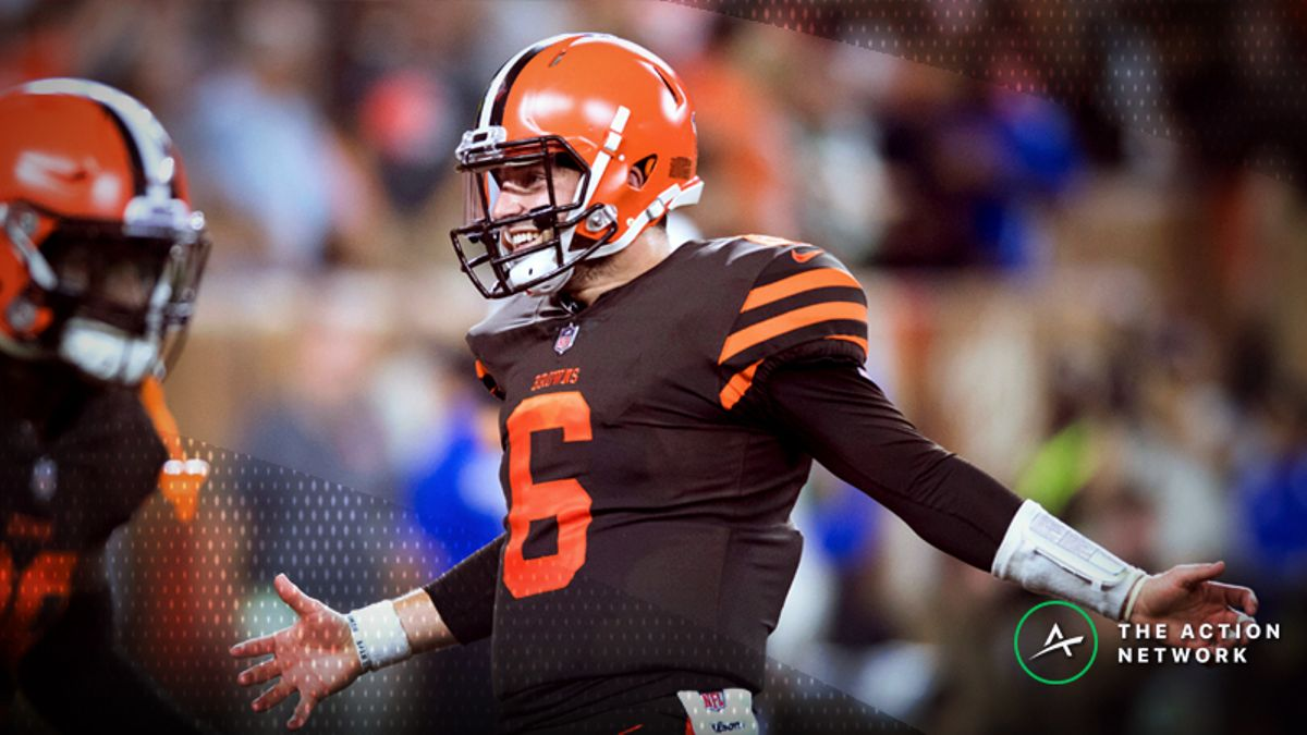 NFL Bettors Buying Back Value with Baker Mayfield, Browns vs. Raiders article feature image