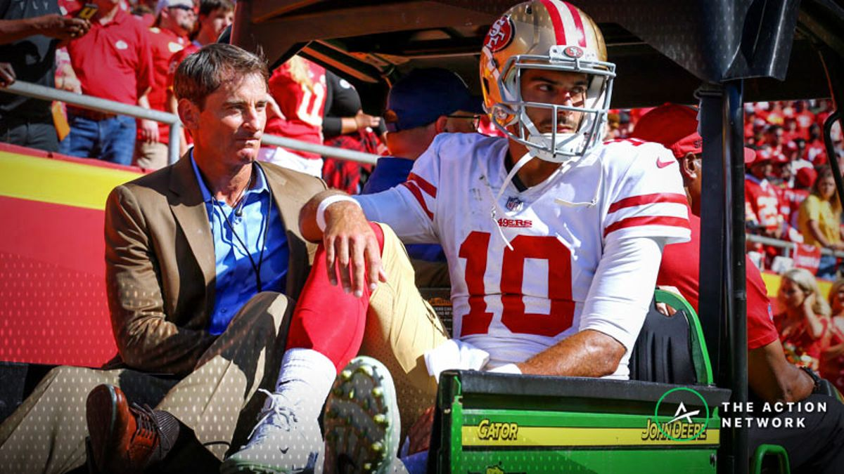 Jimmy Garoppolo Injury Causes Major 49ers-Chargers Point-Spread Adjustment article feature image