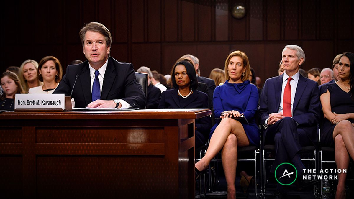 Brett Kavanaugh's Confirmation Chances Improving in Betting Market article feature image