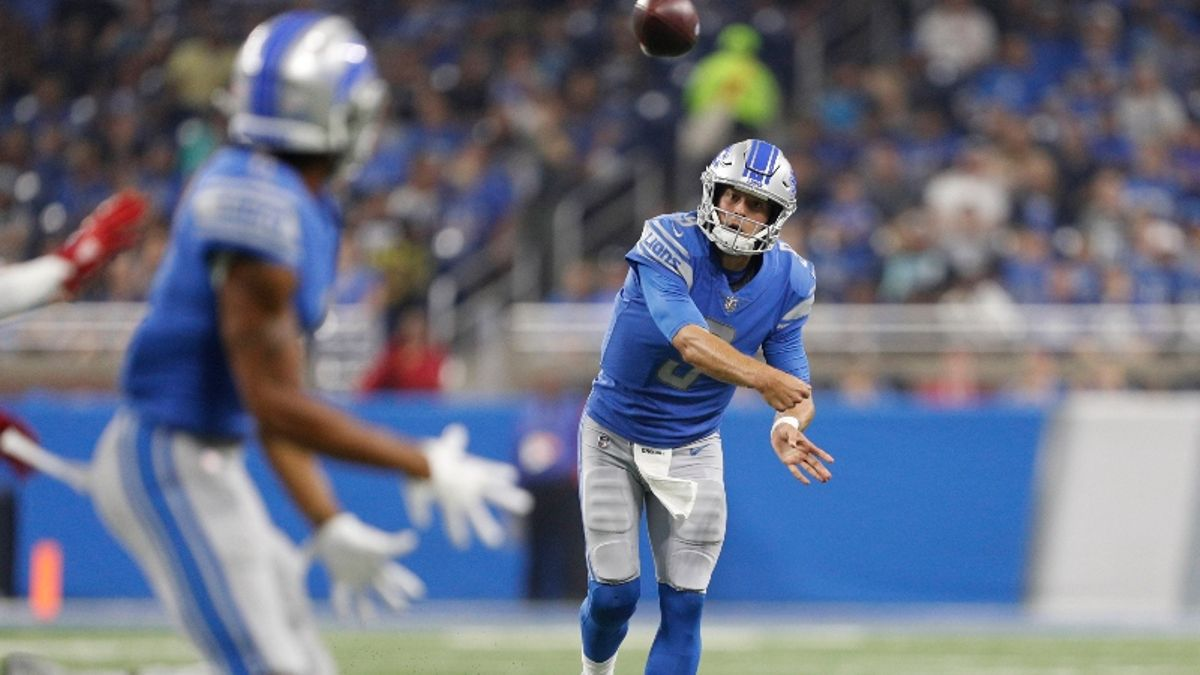 Making a Call on Matthew Stafford's Over/Under 13.5 Interceptions Season Prop article feature image