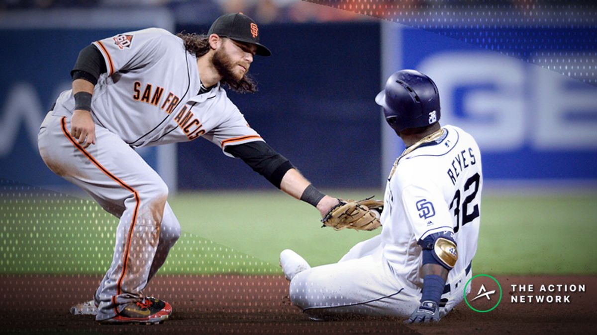 MLB Sharp Report: Pros Betting Giants-Padres, 3 Other Games article feature image