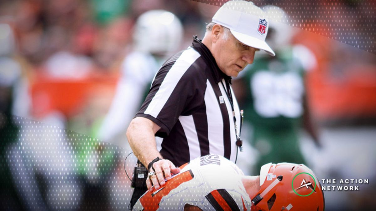 NFL Bad Beats, Week 4: Referee's Call Reversal Helps Bury Browns Bettors article feature image