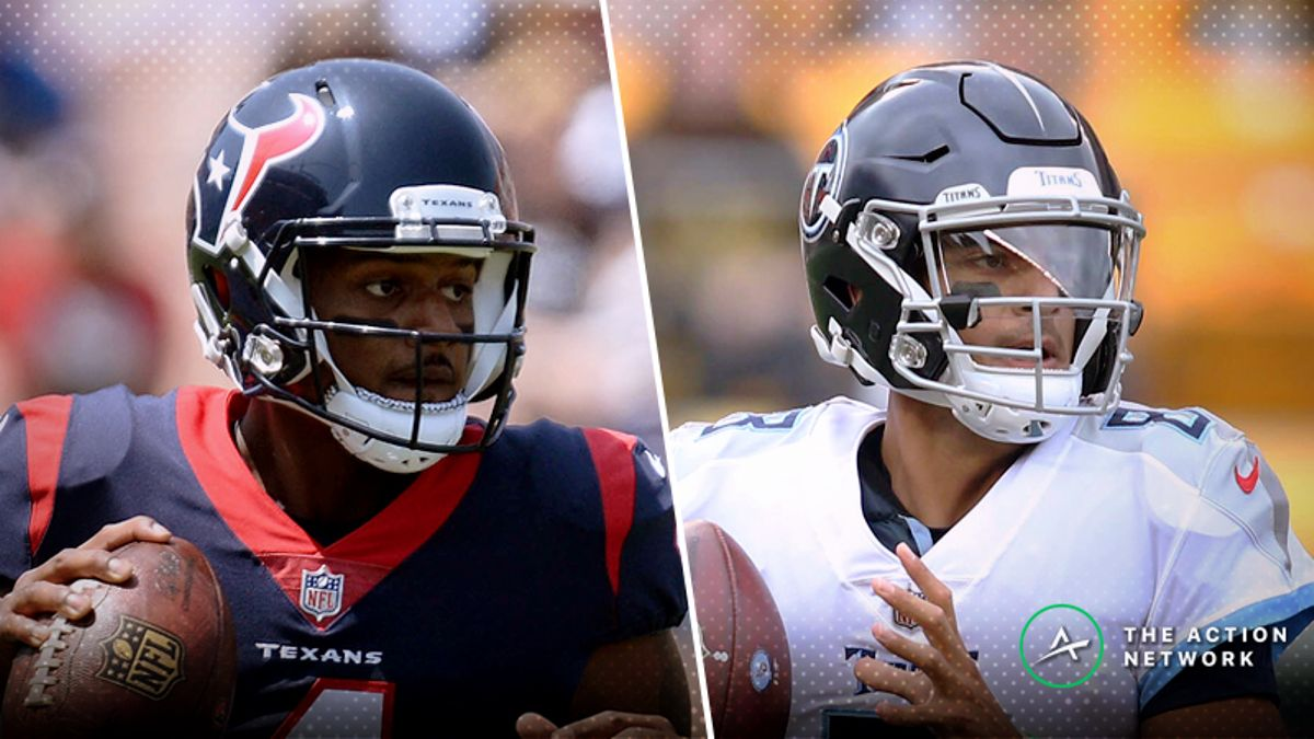 Texans-Titans Betting Preview: Should You Expect a Watson-Mariota Shootout? article feature image