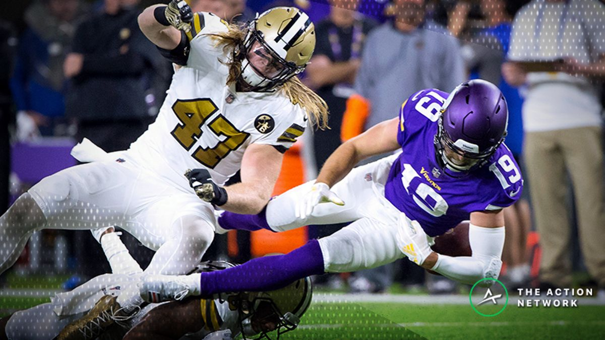 NFL Bad Beats, Week 8: Adam Thielen's First-Half Fumble Sets Up Saints TD, Burns Vikings Backers article feature image