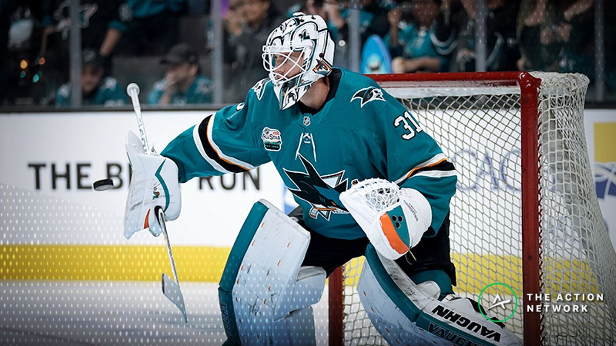Top NHL Prop Bets for Thursday: Martin Jones Over/Under 25.5 Saves? article feature image