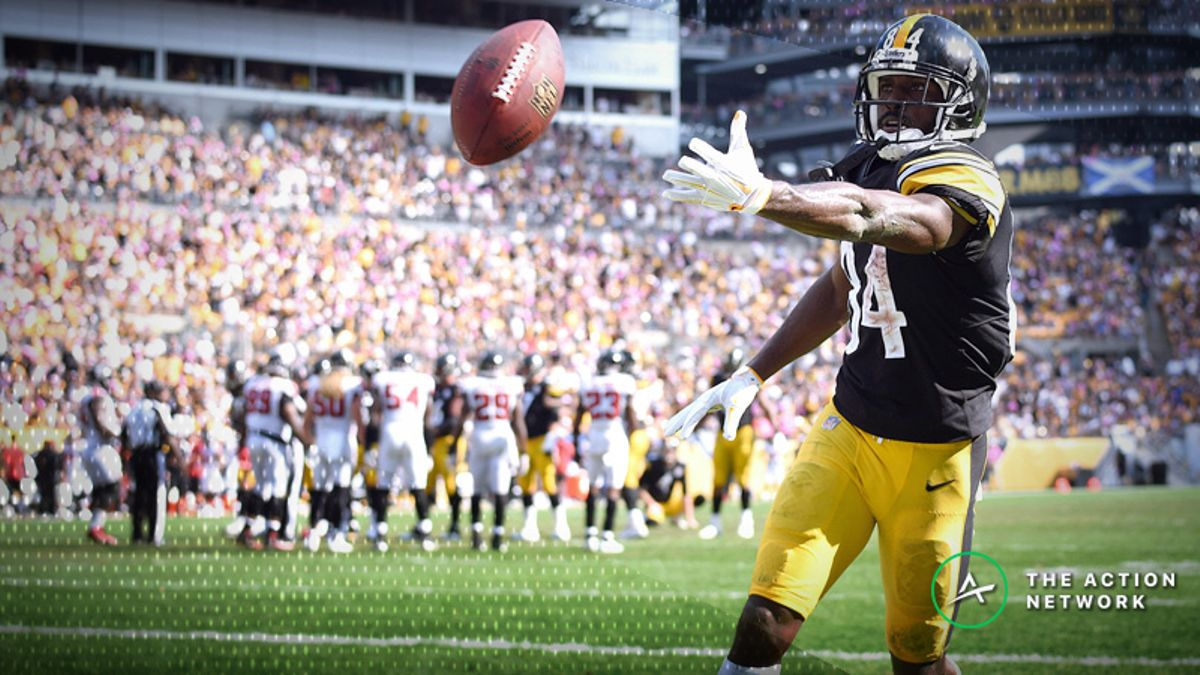 NFL Week 8 Fantasy WR Breakdown: Fade Antonio Brown at Home? article feature image