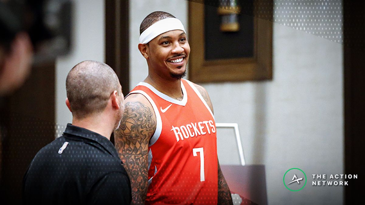 'My Bad': Carmelo Anthony Apologizes for Made Shot, Confirms Rockets' Strategy article feature image