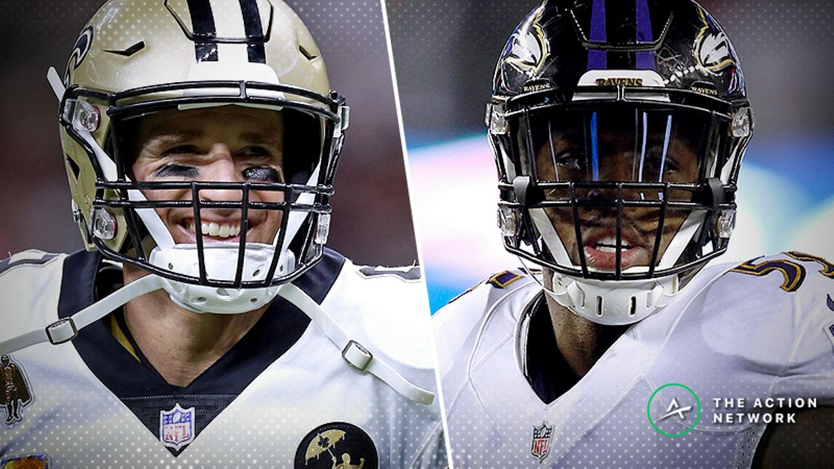 Saints-Ravens Betting Preview: How to Bet the Best Offense vs. the Best Defense article feature image