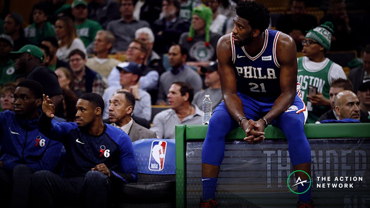 Joel Embiid Gets Worked by Celtics Young Core in Season Opener article feature image