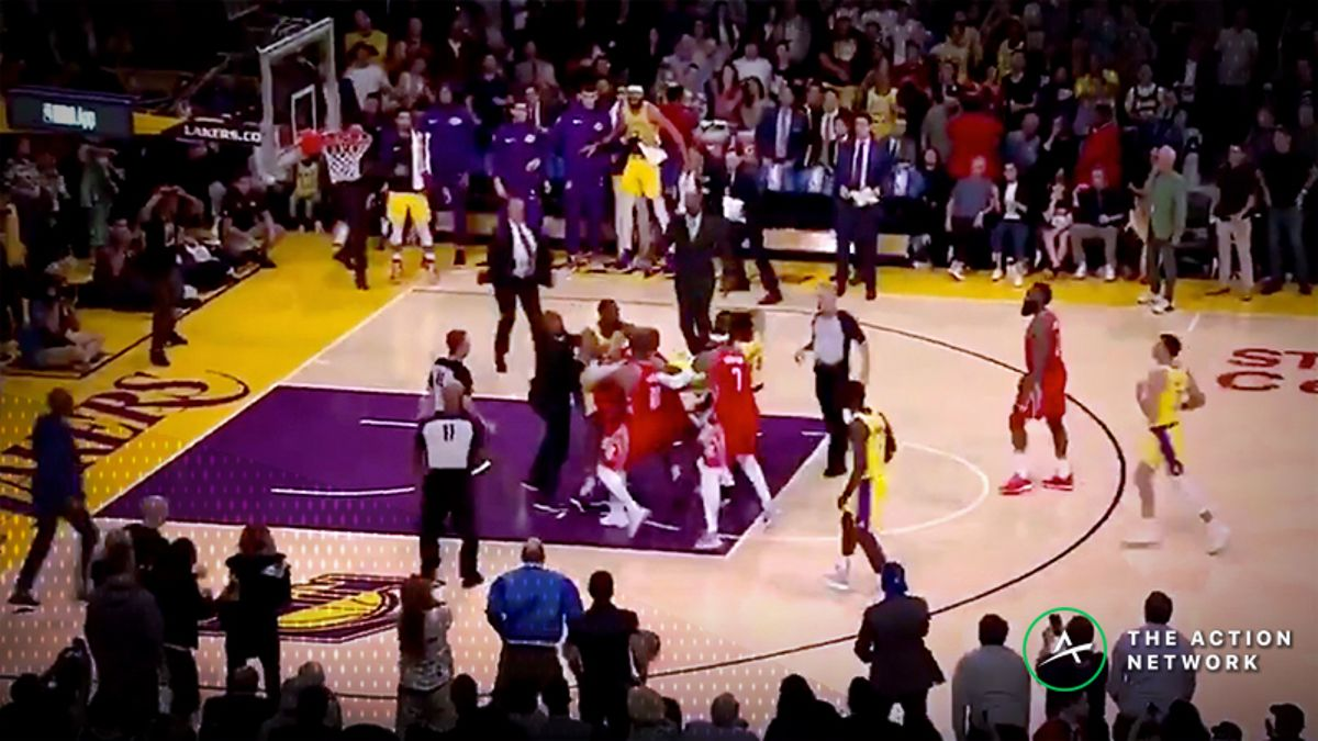 Rockets-Lakers Fight: Chris Paul, Rajon Rondo, Brandon Ingram Involved in Brawl article feature image