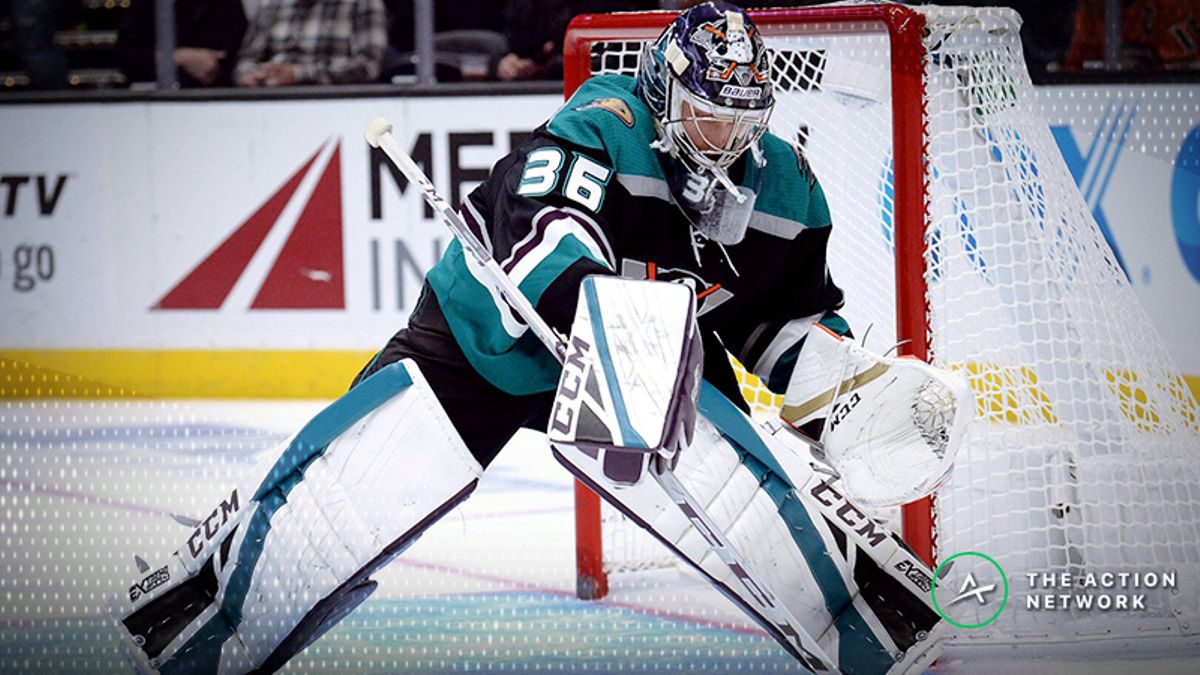 Top NHL Prop Bets for Tuesday: John Gibson Over/Under 32.5 Saves? article feature image