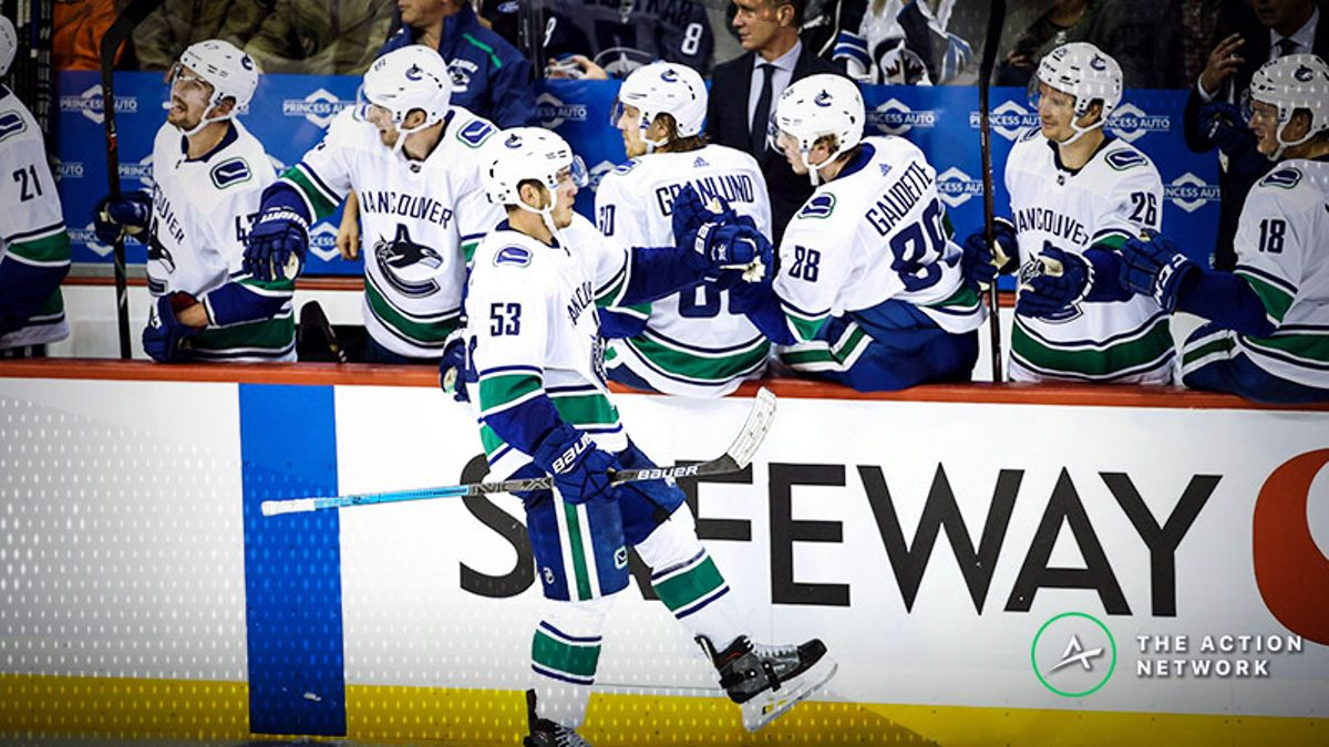 Top NHL Prop Bets for Wednesday: Bo Horvat Over/Under 2.5 Shots on Goal? article feature image
