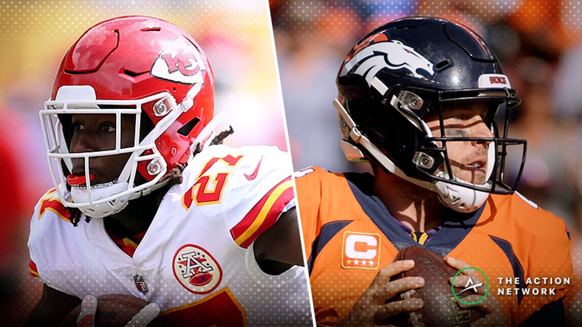 Best Chiefs-Broncos MNF Player Props: Kareem Hunt Over/Under 17.5 Receiving Yards? article feature image