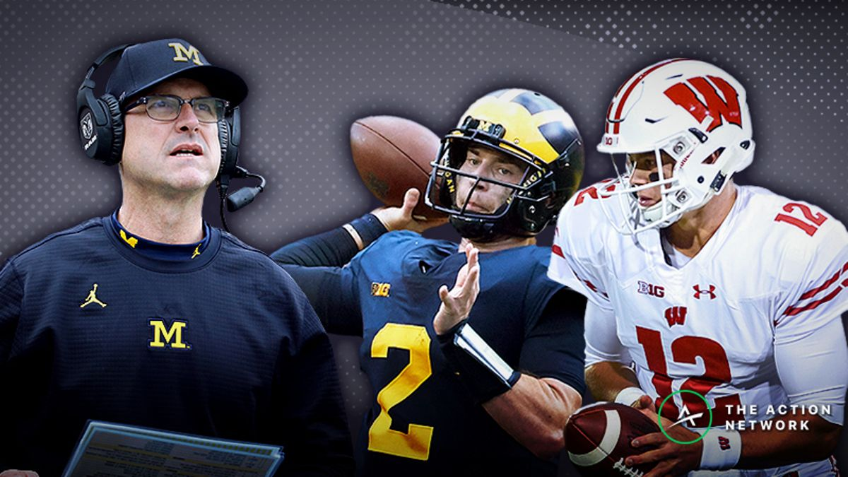 Wisconsin-Michigan Betting Guide: Bettors Fading Harbaugh Beware article feature image