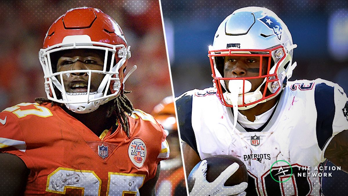 NFL Funnel Defense Ratings: Kareem Hunt and James White Primed to Feast in Week 8 article feature image