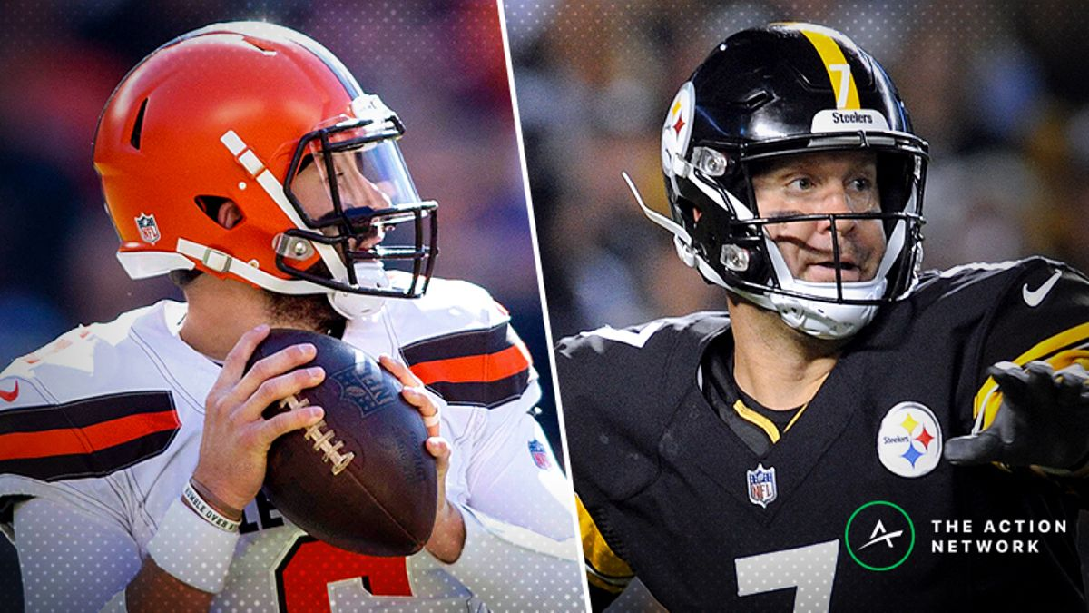 Browns-Steelers Betting Preview: How to Play Baker Mayfield's First Trip to Pittsburgh article feature image