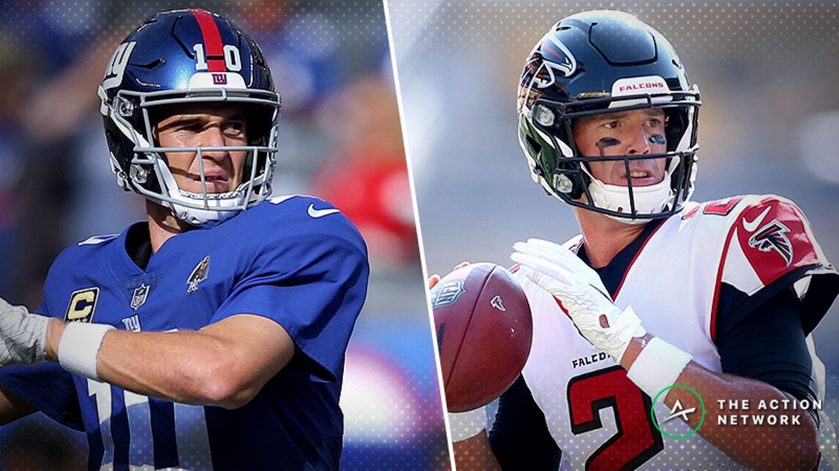 Professional Bettors Targeting Giants-Falcons Over/Under article feature image