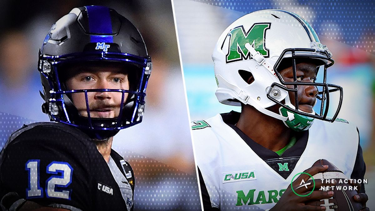 Pros Taking a Side in Friday's Middle Tennessee State-Marshall Matchup article feature image