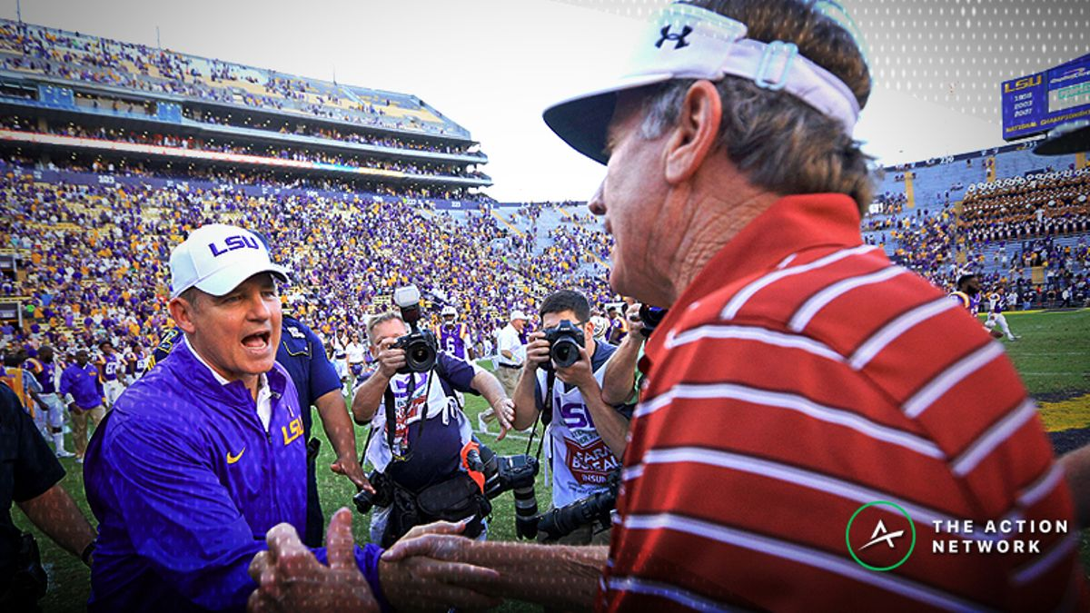 Steve Spurrier Proposes Interesting LSU-Florida Side Bet to Les Miles article feature image