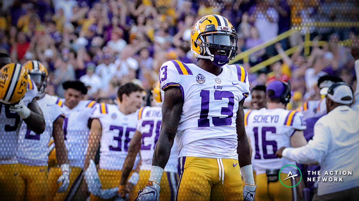 National Championship Odds: LSU Makes a Leap Following Week 7 article feature image
