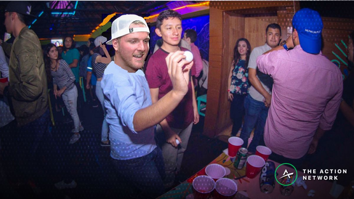 How Long Will it Take Pat McAfee to Clear 21 Beer Pong Cups? article feature image