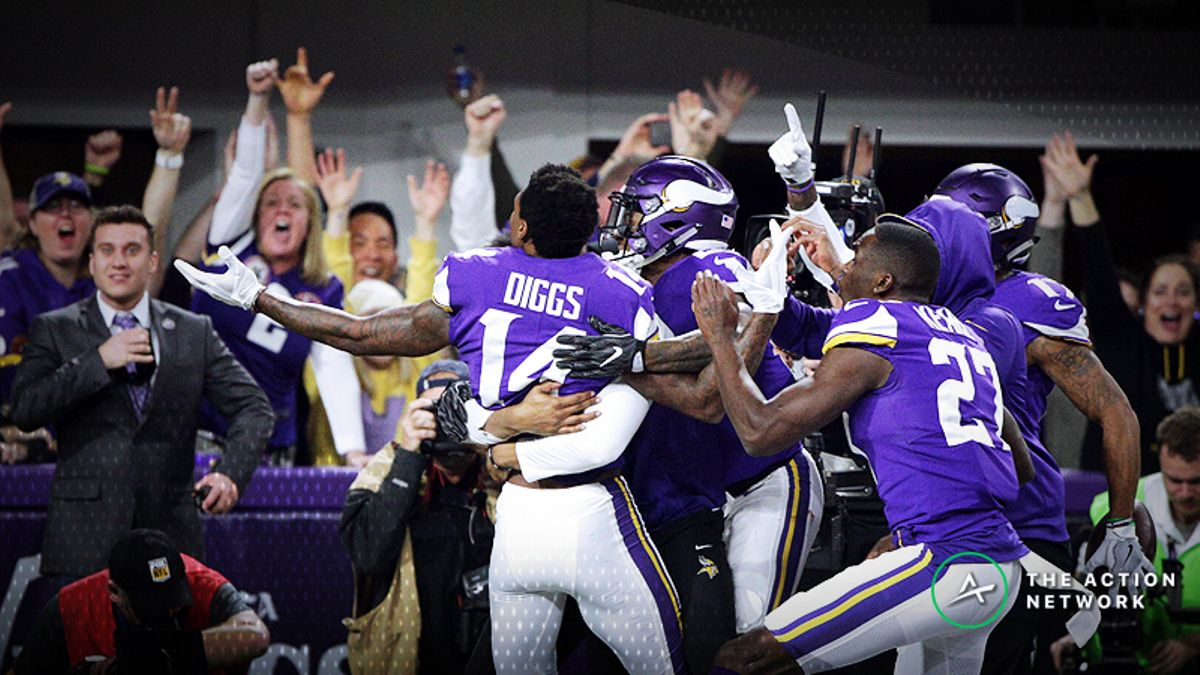 Early Week 8 NFL Odds: Vikings Favored over Saints on Sunday Night Football article feature image