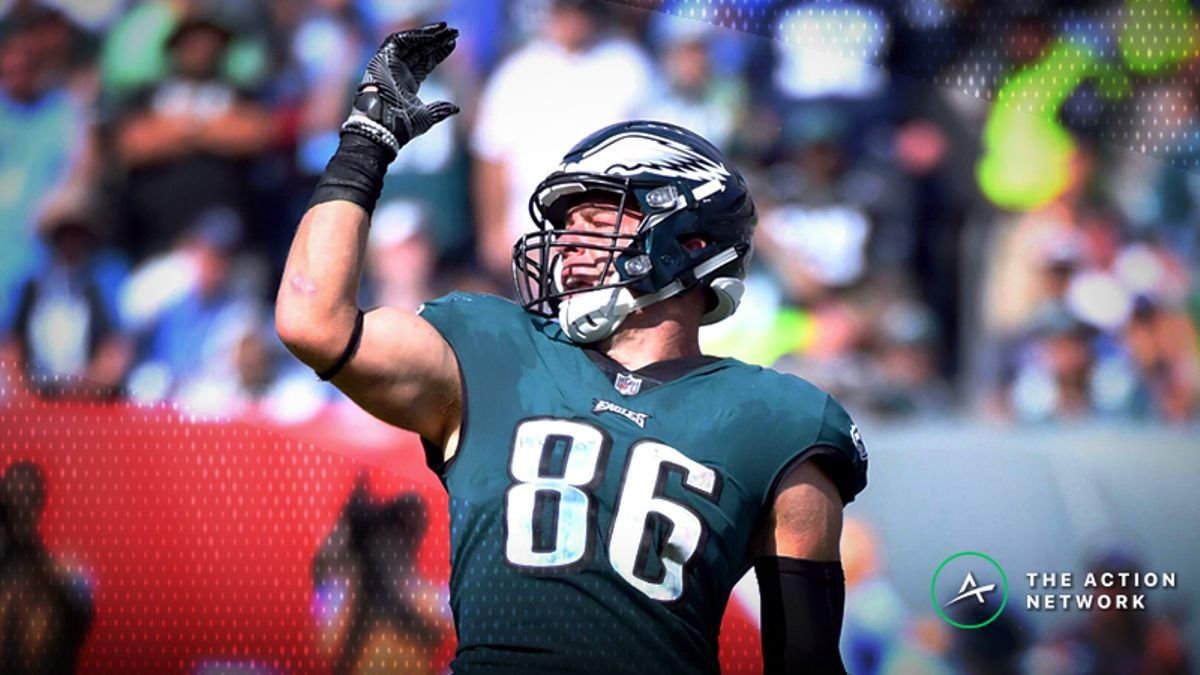 Fantasy Football TE Report: Zach Ertz's Absurd Volume, No. 1 TE, and Matchup Downgrades article feature image
