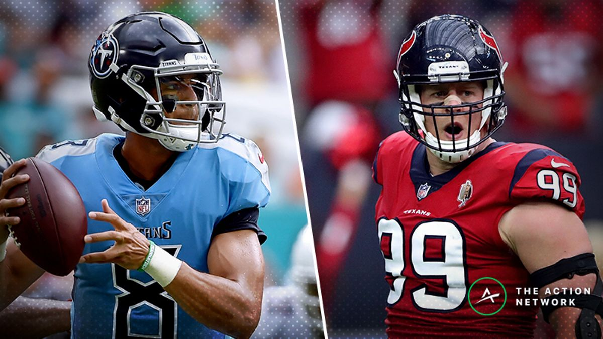 Titans-Texans MNF Betting Preview: Will Houston's Luck Run Out vs. Tennessee? article feature image