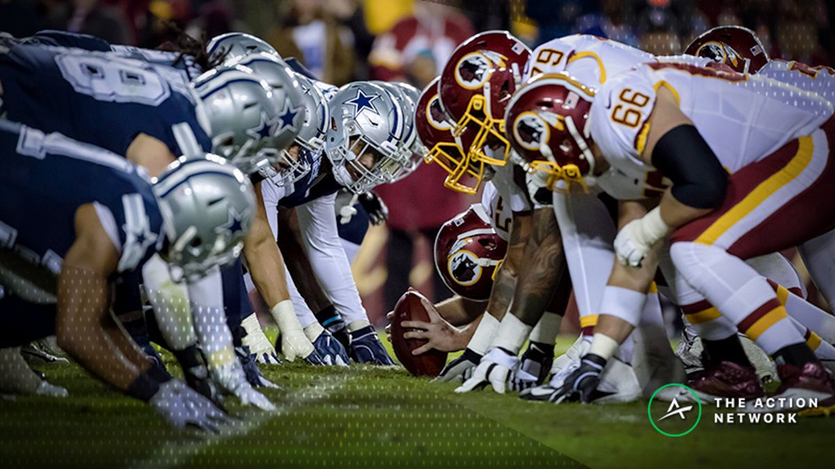 Redskins cowboys line betting how much money was bet on the over under packer bears game last night