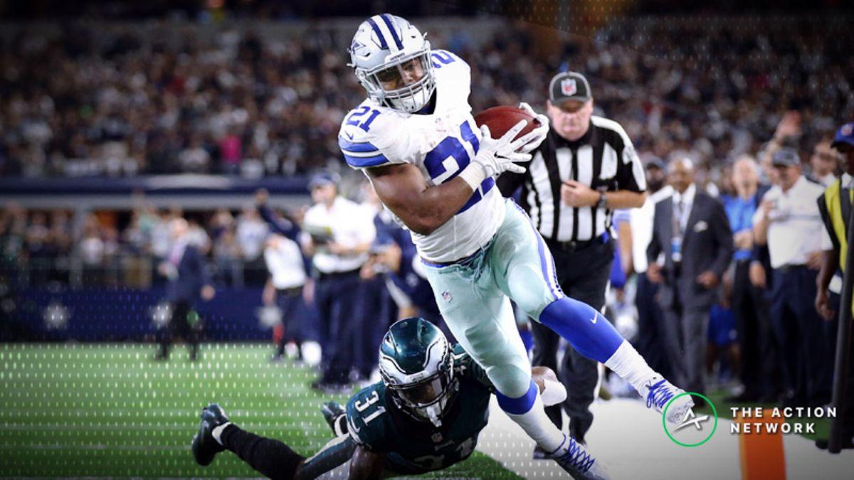 Best Cowboys-Eagles SNF Player Props: Ezekiel Elliott's Tough Road Matchup, More article feature image