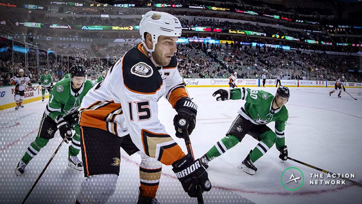 Top NHL Prop Bets for Thursday: Ryan Getzlaf Over/Under 2.5 Shots on Goal? article feature image