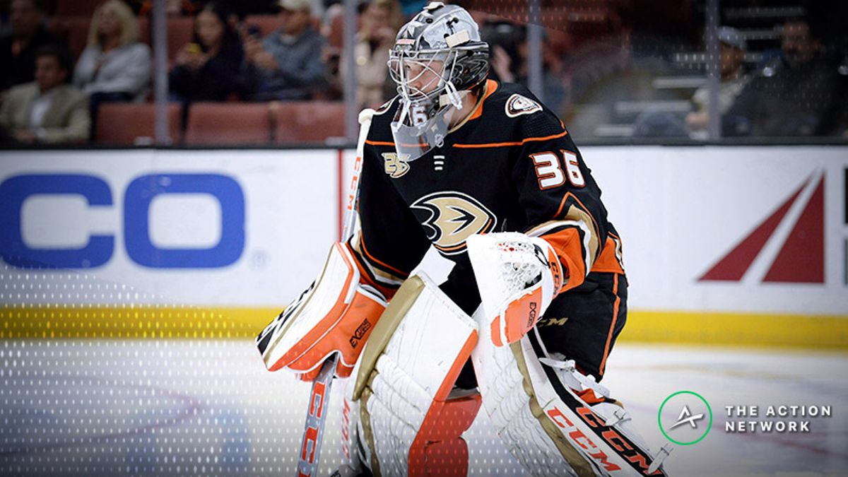 Ducks-Golden Knights Betting Preview: Will John Gibson Continue to Stand on His Noggin? article feature image